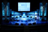 Декорации для сцены «Газпром»