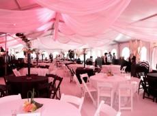 оформление свадебнного зала в розовых тонах