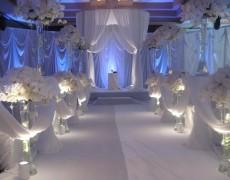 оформление свадьбы в белых тонах