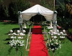 оформление свадьбы под открытым небом
