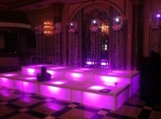 Подиум сборно-разборный со встроенной LED подсветкой, метало каркас, оргстекло, h=30 см
