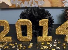 Новогоднее оформление объемные буквы — 2014