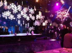 Новогоднее оформление сцены
