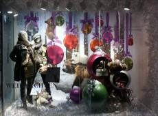 Новогоднее оформление витрина шарами