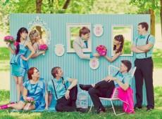 Оригинальный пресс волл на свадьбу