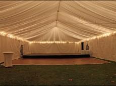 Оформление шатра тканью с подсветкой