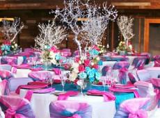 Декорационные элементы для свадебных столов