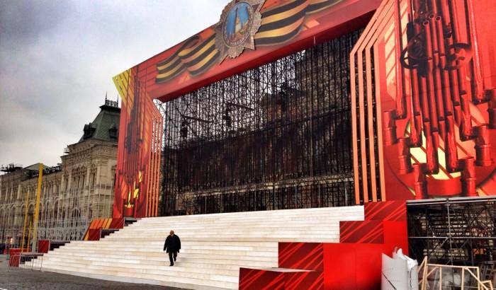 Оформление сцены Красная площадь