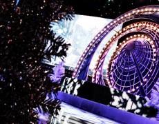 Новогоднее оформление зала для ОАО «Газпром»